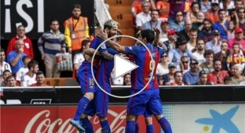 أقدام ميسي تقود برشلونة لخطف فوز قاتل أمام فالنسيا