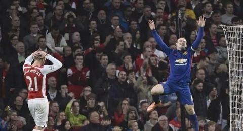 روني يحسم قمة ملعب الامارات لمانشستر يونايتد