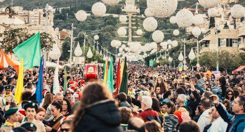 ما يقارب ال 142000 شخص زار واحتفل في نهاية الأسبوع الماضي  في مدينة حيفا!