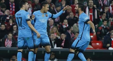 برشلونة يضع قدما في نصف نهائي كأس الملك