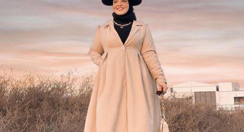تنسيقات محتشمة للمحجبات في فصل الشتاء من ياسمين وجدي