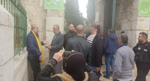 رغم محاولة منعه، الطيبي يدخل المسجد الأقصى من باب الرحمة