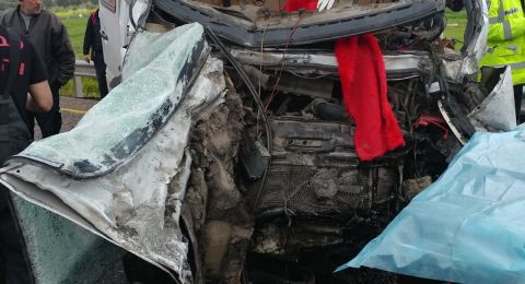 مصرع سائق شاحنة فلسطيني بحادث مروع قرب سلفيت