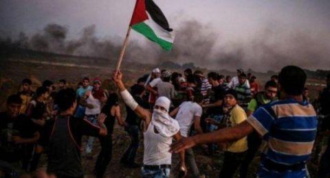 شهيد و30 إصابة باعتداء قوات الاحتلال على المتظاهرين شرقي القطاع
