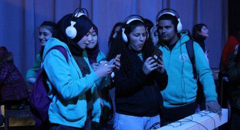 طلاب الإعدادية الحديقة يافة الناصرة بزيارة معرض التخصصات التكنولوجية