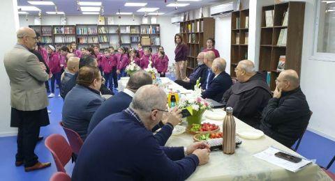 يافة الناصرة :رئيس المجلس المحلي وادارة المدرسة البطريركية يستقبلون مدير عام وزارة التربية والتعليم
