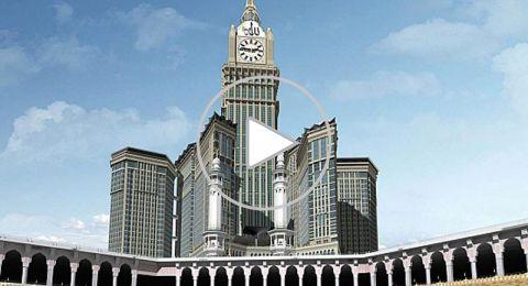 بالفيديو.. حريق ضخم في أبراج مكة