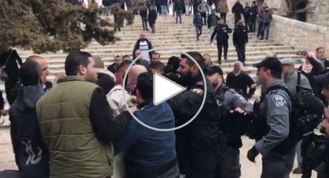 اعتقالات في المسجد الأقصى بعد احتجاجات على اغلاق باب الرحمة