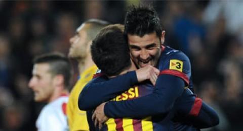 برشلونة يضرب شباك رايو فاليكانو بثلاثية