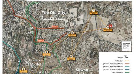 المجلس الإسلامي الأعلى والمركز العربي للتخطيط البديل يعترضان على مخطط القطار الهوائي في القدس الشرقية