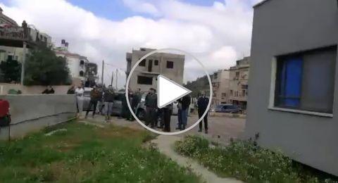 القوات الاسرائيلية تهدم بيوتًا في قرية خور صقر بالمثلث