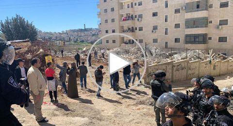 الشرطة الإسرائيلية تهدم مدرسة في مخيم شعفاط
