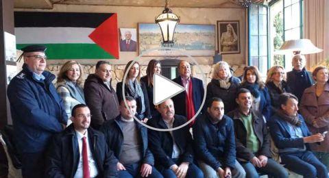 منيب المصري يقيم غداء على شرف محافظ نابلس وشخصيات المدينة