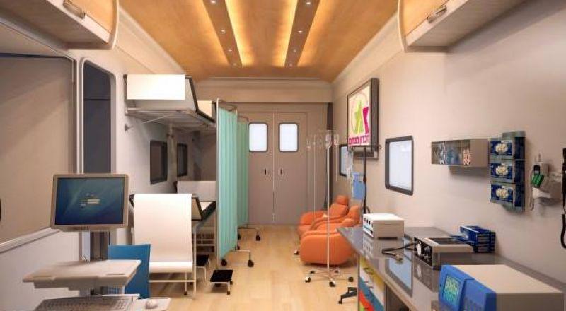 غرفة طوارئ سيارة لخدمة الأولاد المرضى بالسرطان أثناء الرحلات