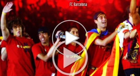 برشلونة تثأر من ريال مدريد بأغنية متميزة
