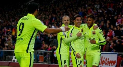 برشلونة بطلًا للدوري الاسباني بعد الفوز على اتلتيكو مدريد بأقدام ميسي