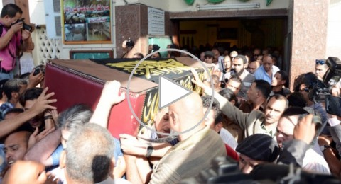 جنازة الفنان حسن مصطفى وانهيار زوجته ميمي جمال