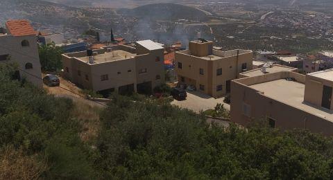 حريق هائل في المغار وإخلاء 8 بيوت