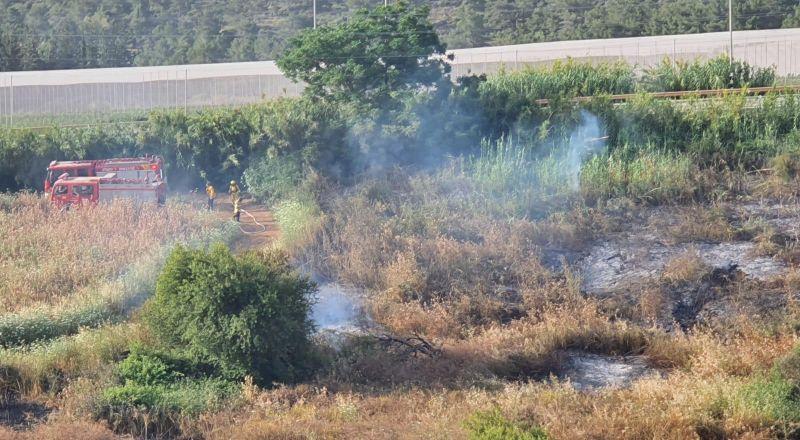 اندلاع حرائق في مناطق مفتوحة في اكسال والرينة وكفركنا