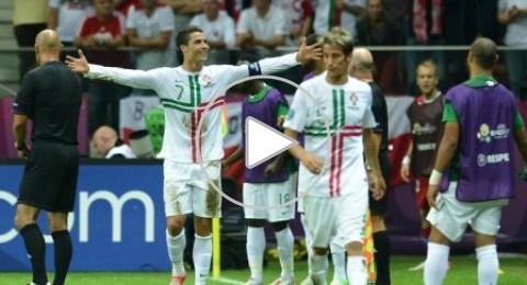 رونالدو يحمل البرتغال إلى نصف نهائى اليورو