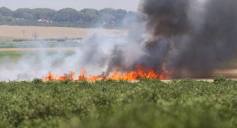 اندلاع حريق بموقع عسكري في