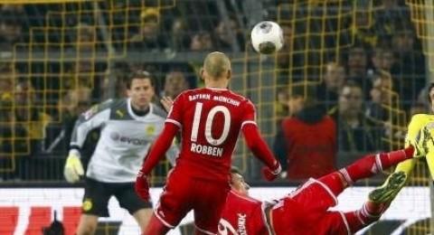 قمة المانيا تنتهي بثلاثة اهداف بافارية في شباك دورتموند