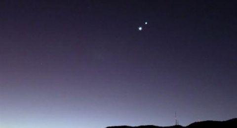 رمز الحب وملك الكواكب في سماء فلسطين الأحد