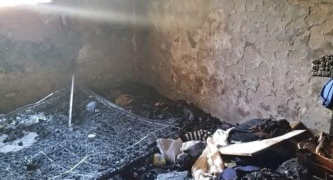 تدخين سيجارة داخل منزل تسبب باندلاع حريق هائل وأضرار جسيمة