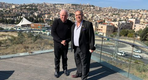 لقاء يجمع علي سلام برونين بلوت، لبحث مشاريع تخص الناصرة ونوف هجليل