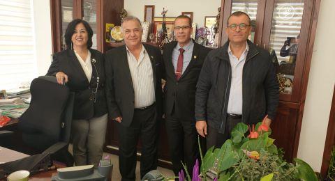 زيارة تجمع بين ادارة فنادق دان ورئيس بلدية الناصرة