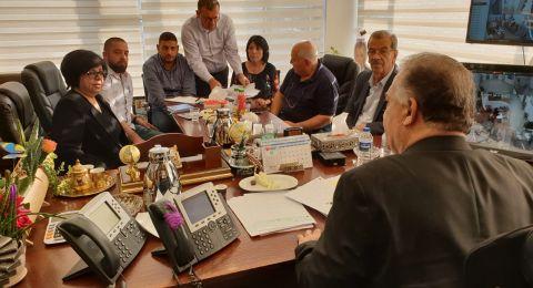 مجلس الطائفة الأرثوذكسية يلتقي رئيس بلدية الناصرة