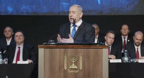 نتنياهو: حكومة اقلية بدعم النواب العرب- خطوة خطرة