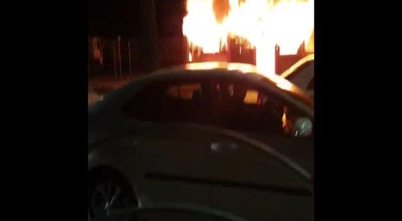 في اعقاب جريمة القتل..اعمال عنف وحرائق تشهدها راهط