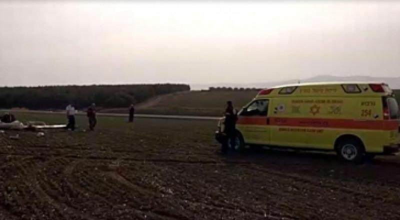 سقوط طائرة شراعية قرب دبورية وإصابة راكبها