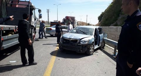 حادث طرق مروع قرب القدس وإصابة 3 أشخاص