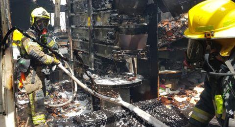 حريق يلتهم مخبزًا في عرعرة