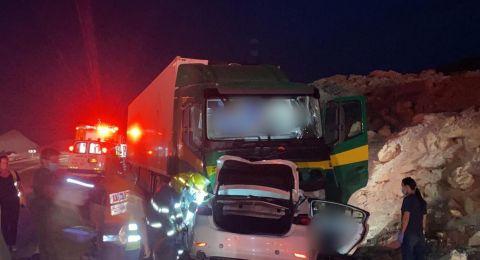 حوادث الطرق: قتيلان في طريق ايلات، وإصابة حرجة لشاب في الناصرة