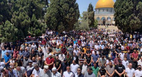 60 ألف مصلِّ في المسجد الأقصى في الجمعة الثانية من رمضان