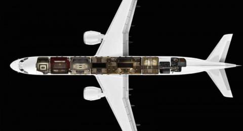 طائرة خاصة تحاكي فخامة وأناقة حياة هوليوود مقابل 83 مليون دولار