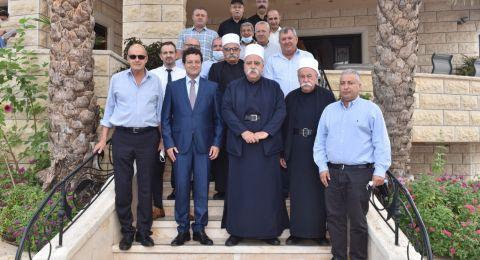 عشية العيد: رئيس مجلس إدارة لئومي د. سامر حاج يحيى يزور الشيخ موفق طريف