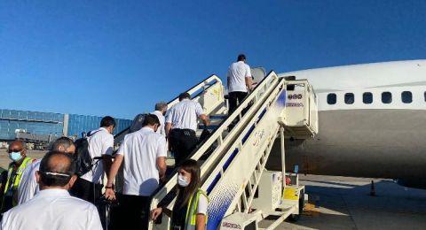 استقبال اساطير ريالم مدريد في مطار اللد