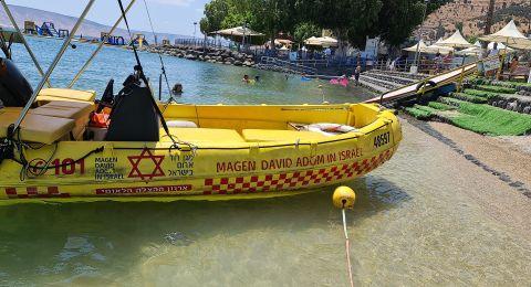 نوف هجليل: مستشفى بوريا يعلن عن وفاة شاب بعد غرقه في بحيرة طبريا