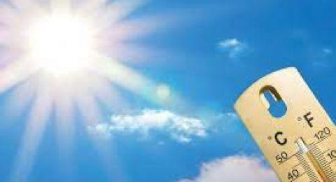 حالة الطقس: أجواء حارة أعلى من معدلها بقليل