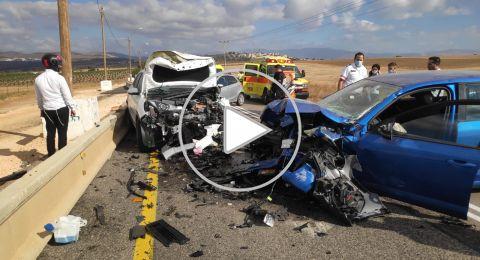 3 اصابات خطيرة في حادث طرق بالقرب من بوريا