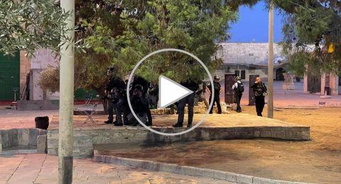 الشرطة تعزز تواجدها في محيط المسجد الاقصى..وبينيت يشجع!!