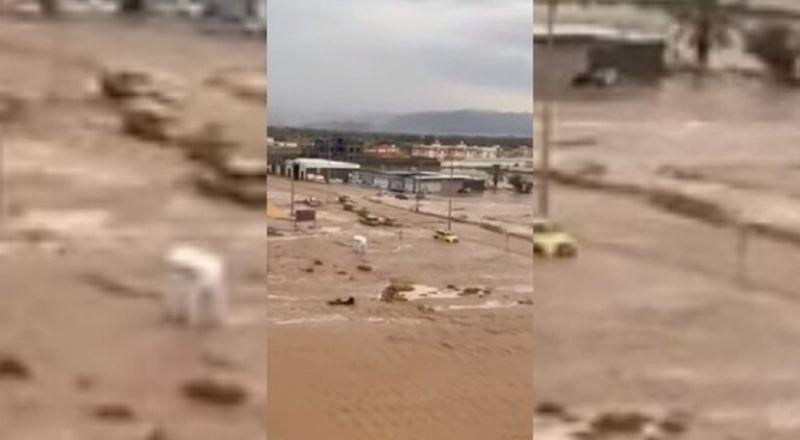 نجران بالسعودية.. غرق شوارع واحتجاز مركبات