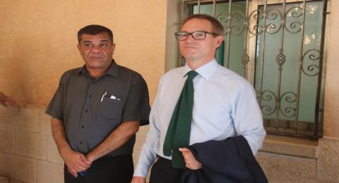 السفير البريطاني الجديد نيل ويچن يزور الناصرة