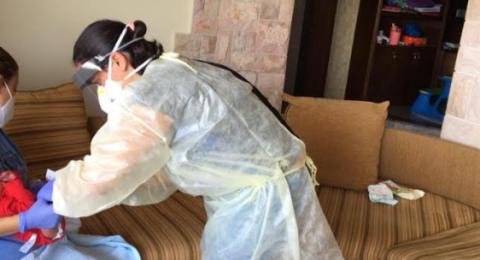 ممرضات مركز رعاية الأم والطفل في مواجهة الكورونا