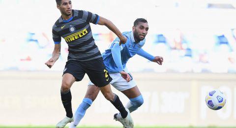 إنتر يعلن إصابة لاعبه المغربي حكيمي بالكورونا قبل مباراته الأوروبية بساعات