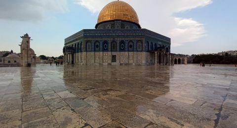 أولى قطرات المطر تسقط على القدس